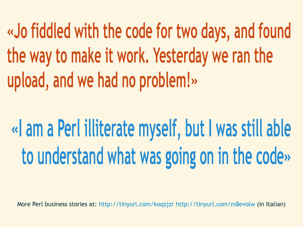 «Jo fiddled with the code for two days, and fou...