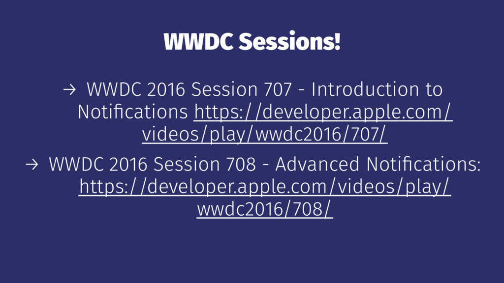 WWDC Sessions! → WWDC 2016 Session 707 - Introd...