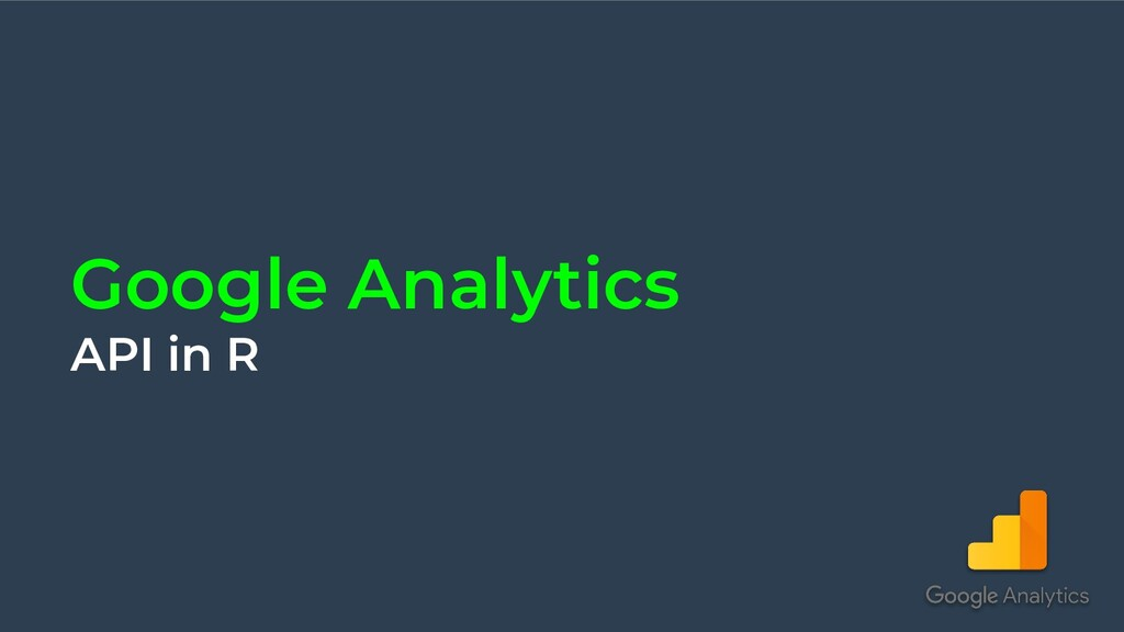 Google Analytics API in R