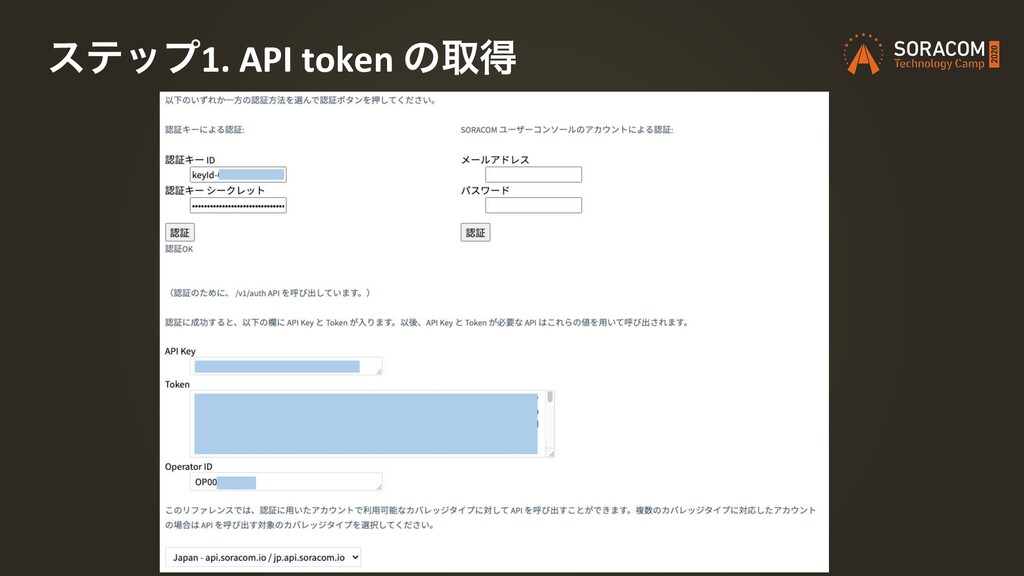 εςοϓ1. API token ͷऔಘ