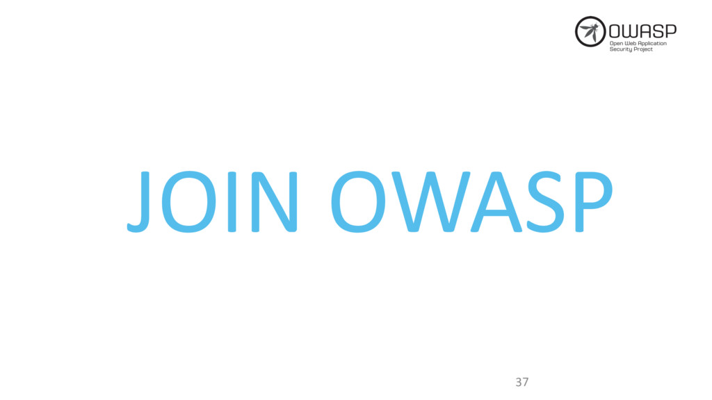 37 JOIN OWASP