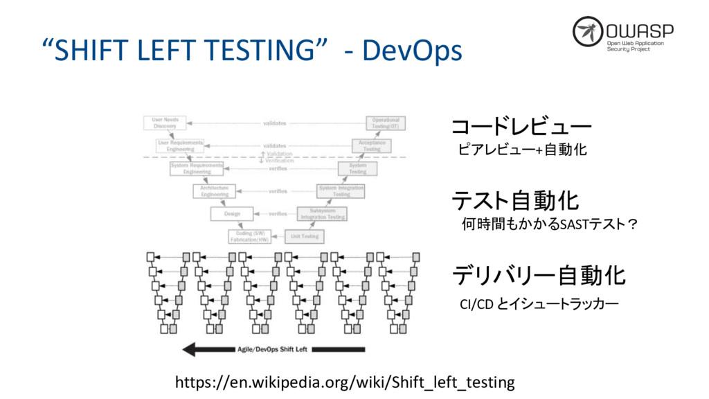 """""""SHIFT LEFT TESTING"""" - DevOps https://en.wikipe..."""