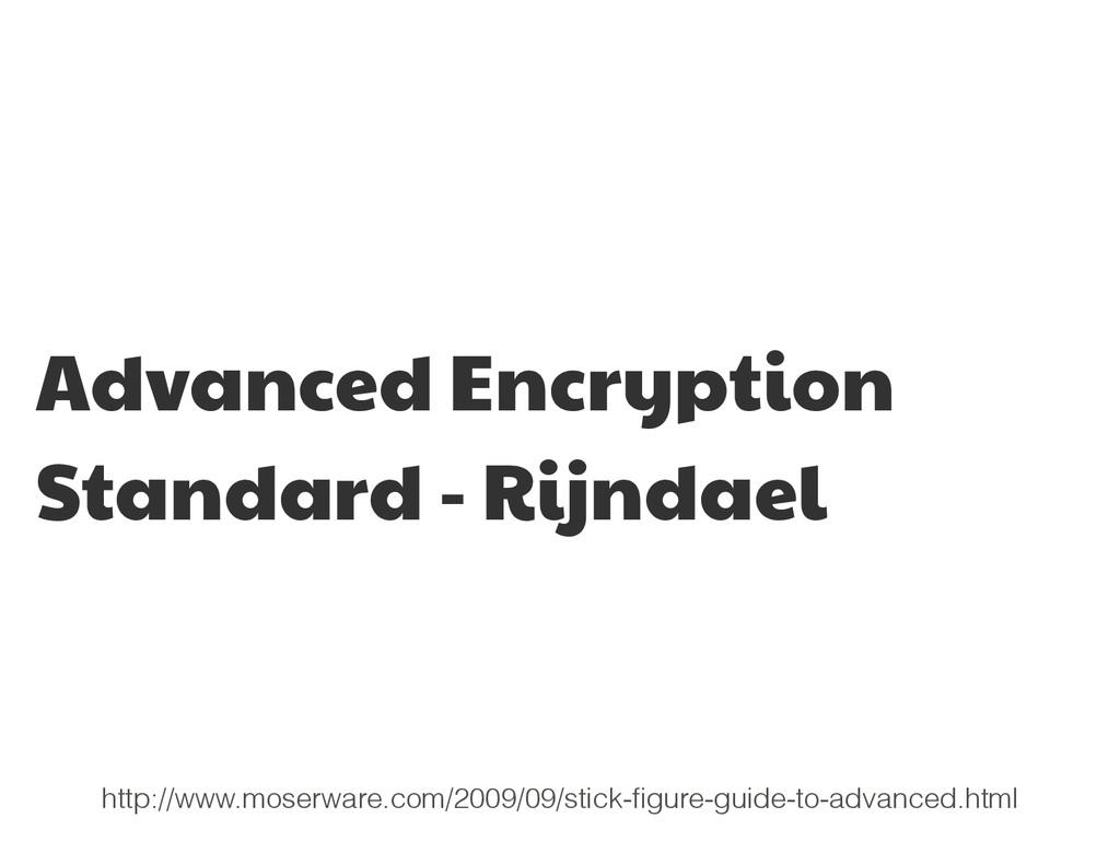 Advanced Encryption Standard - Rijndael http://...