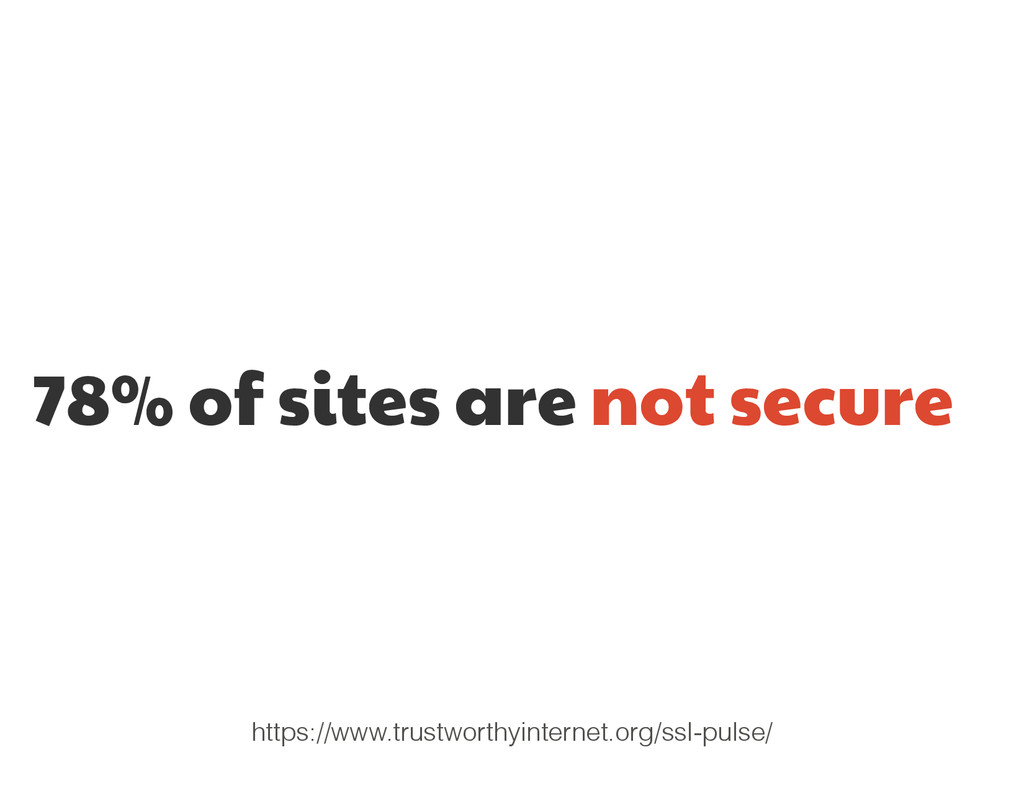 78% of sites are not secure https://www.trustwo...