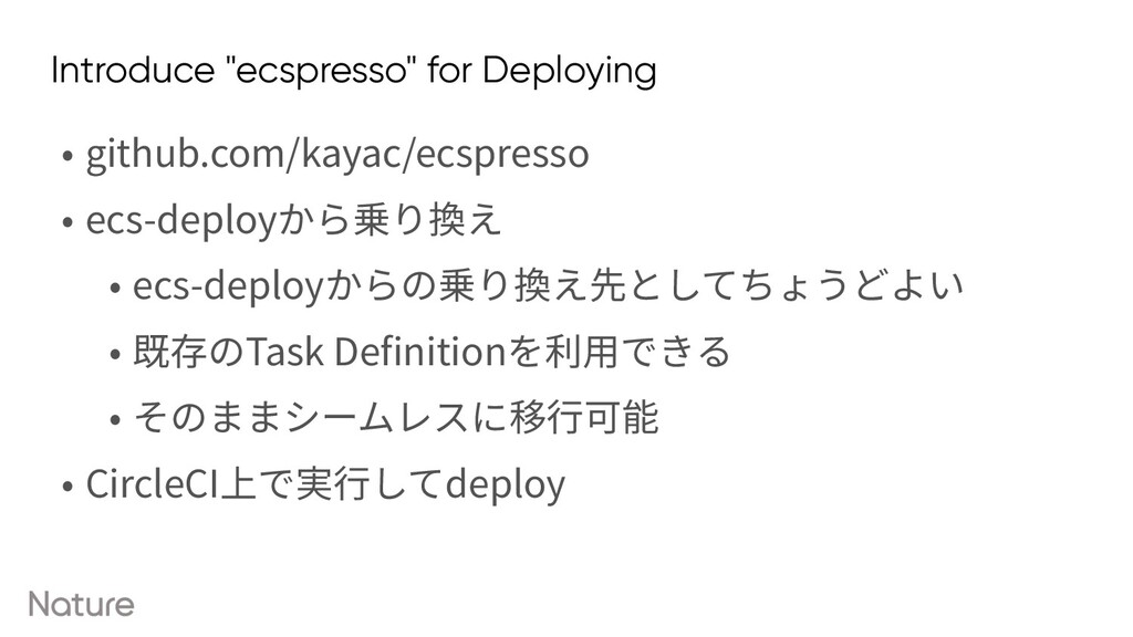 "Introduce ""ecspresso"" for Deploying • github.co..."