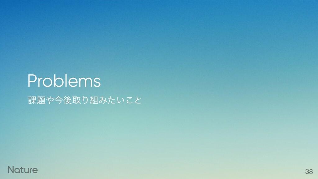 ՝ࠓޙऔΓΈ͍ͨ͜ͱ Problems 38