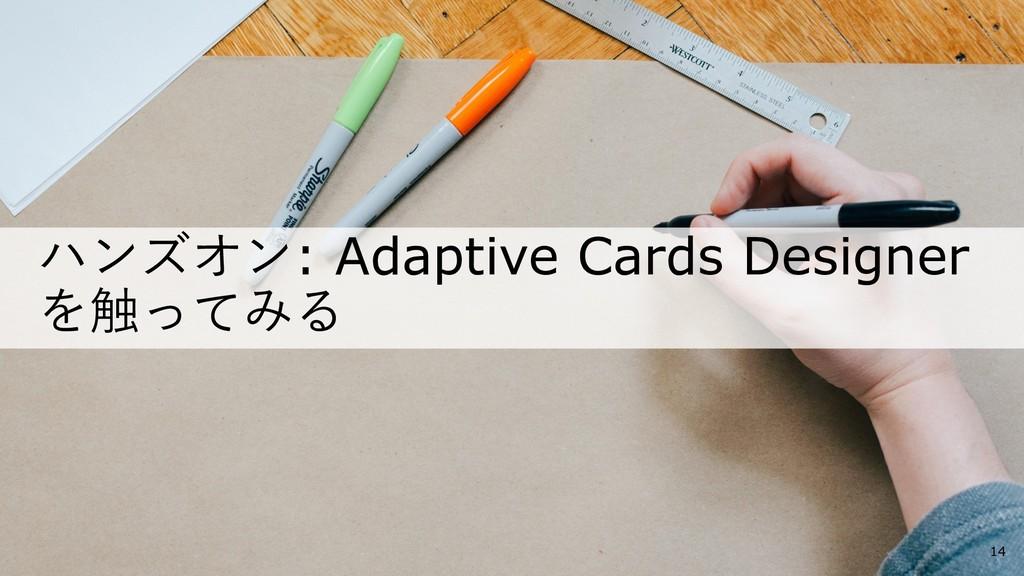 ハンズオン: Adaptive Cards Designer を触ってみる 14