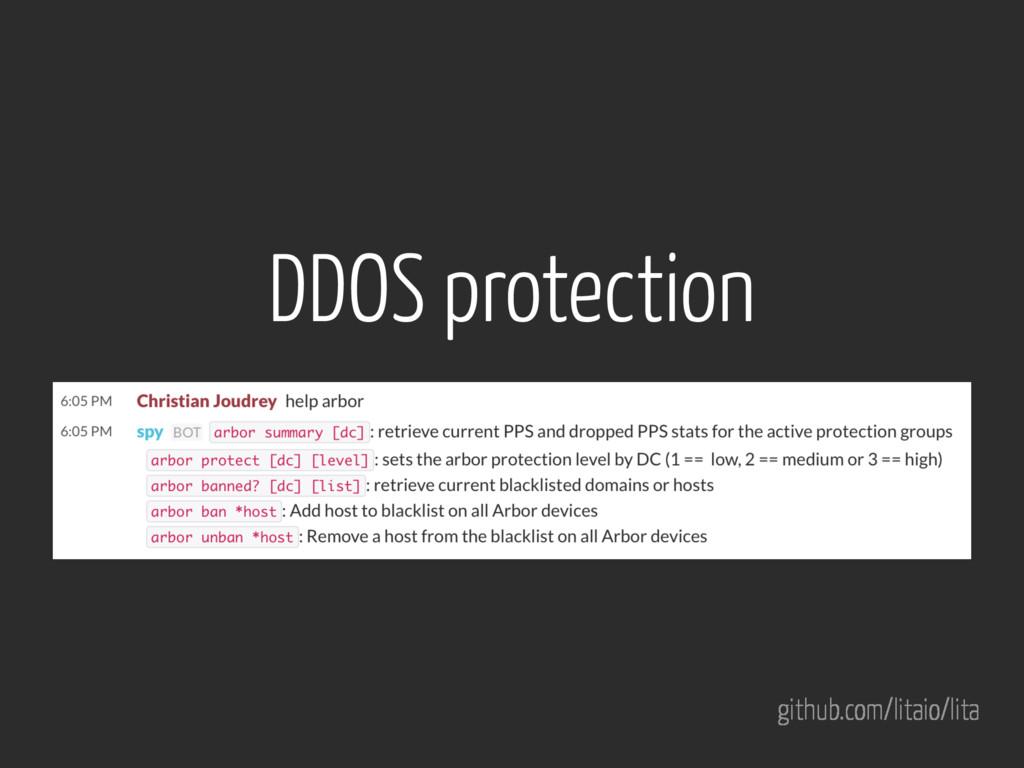 github.com/litaio/lita DDOS protection