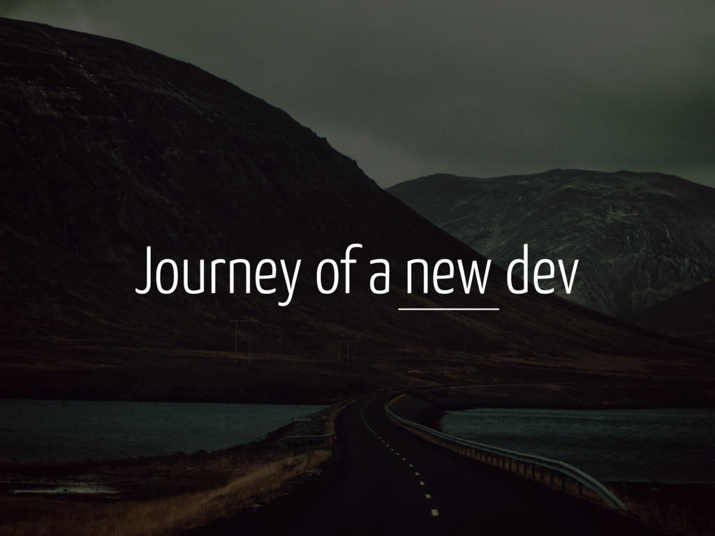 Journey of a new dev