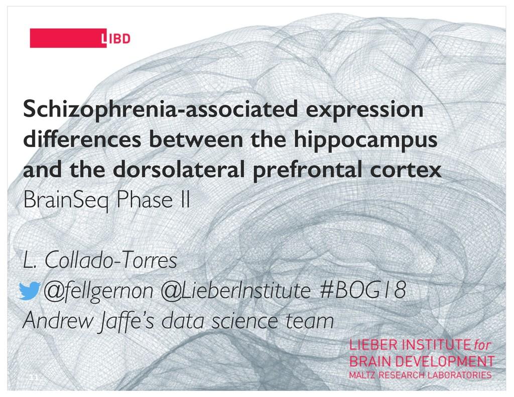 11 Schizophrenia-associated expression differen...