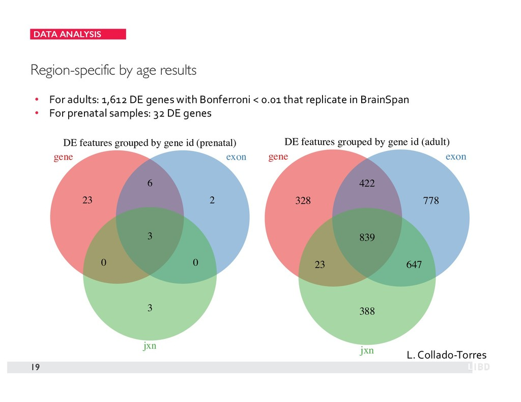 DATA ANALYSIS 19 Region-specific by age results...