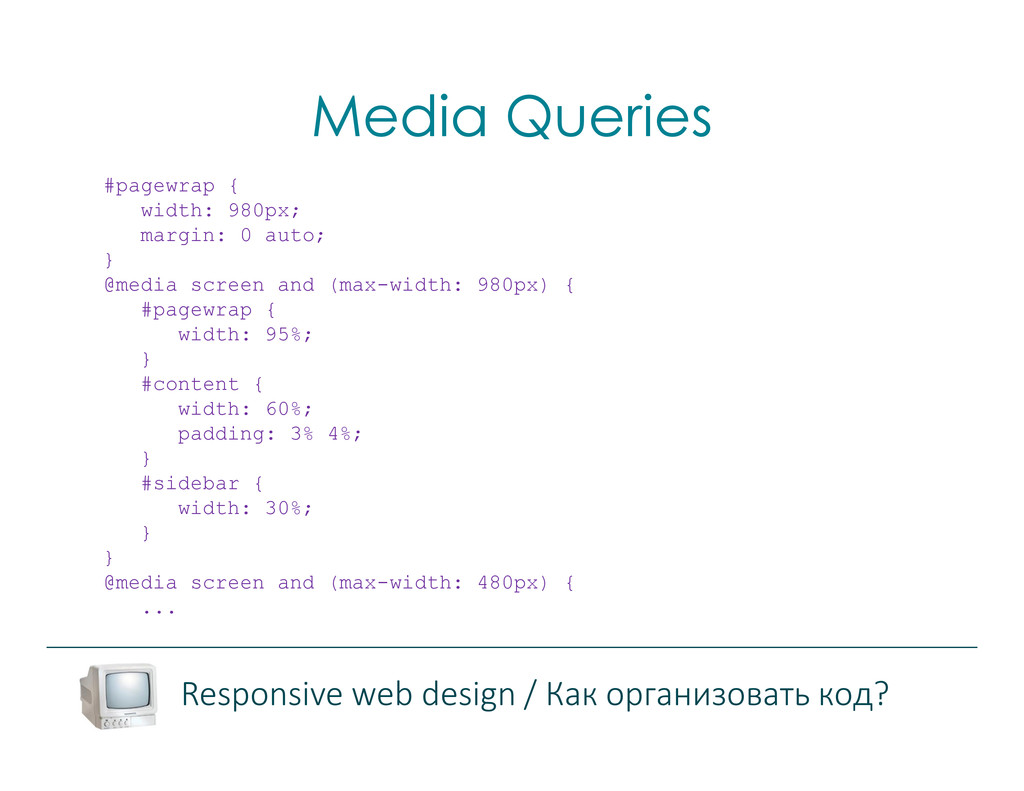 Media Queries Responsive web design / Как орган...
