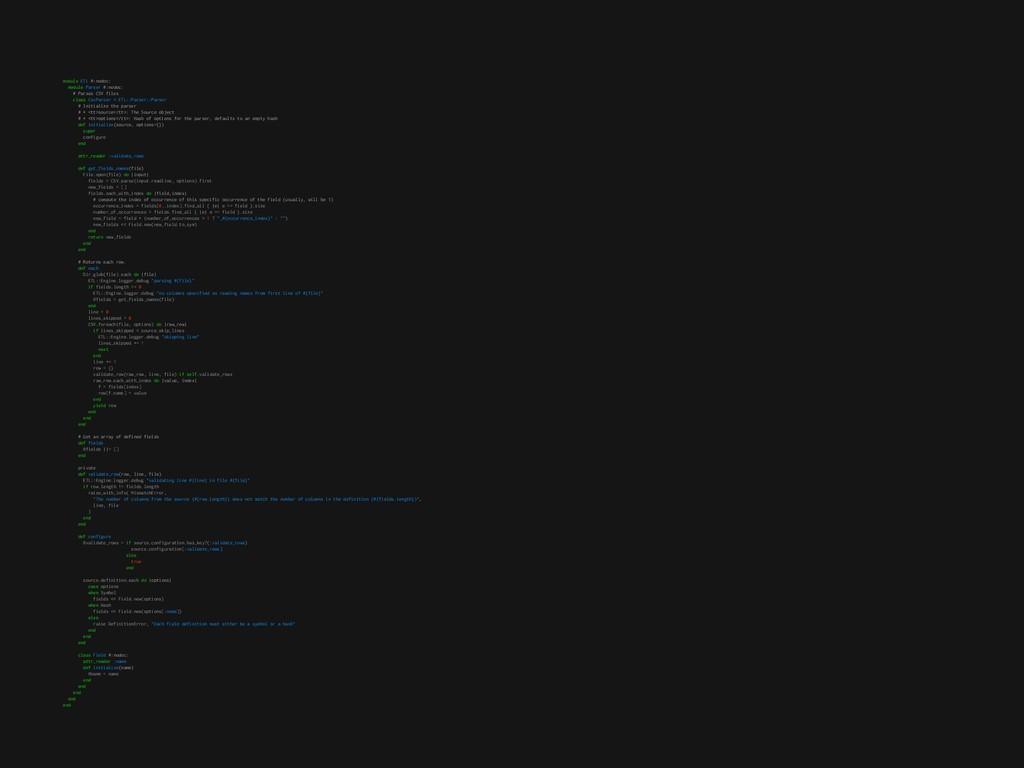 module ETL #:nodoc: module Parser #:nodoc: # Pa...