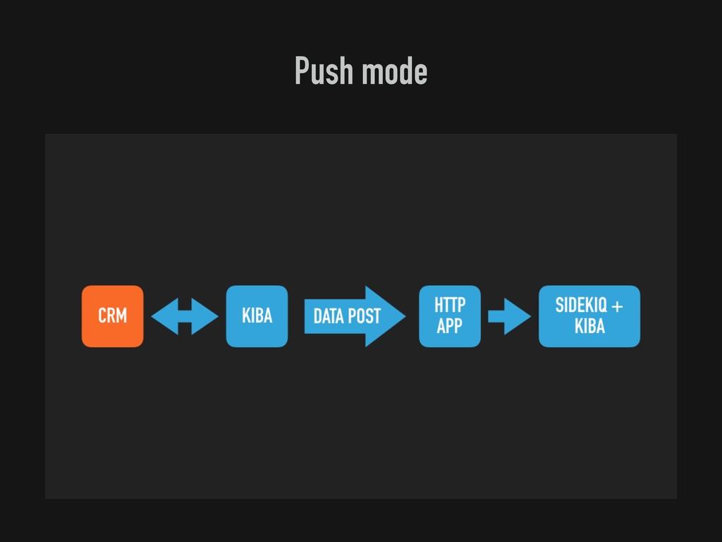 Push mode
