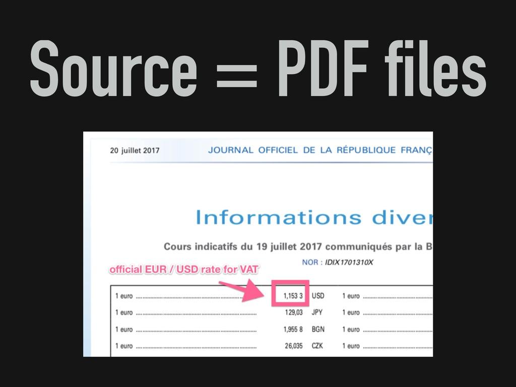 Source = PDF files