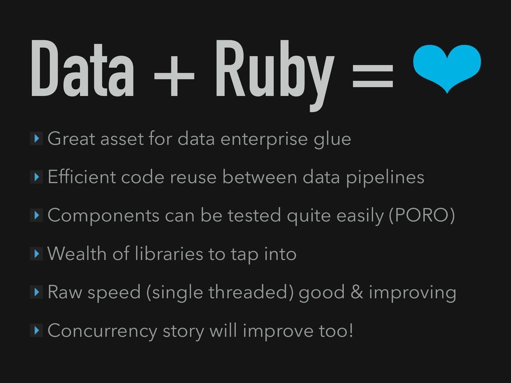 Data + Ruby = ❤ Great asset for data enterprise...