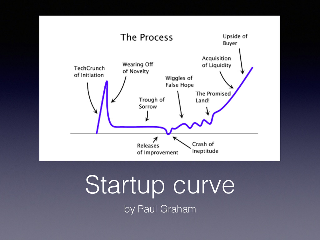 Startup curve by Paul Graham