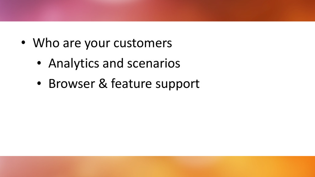 • Who	