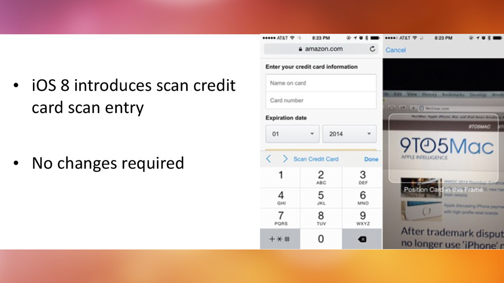 ! • iOS	