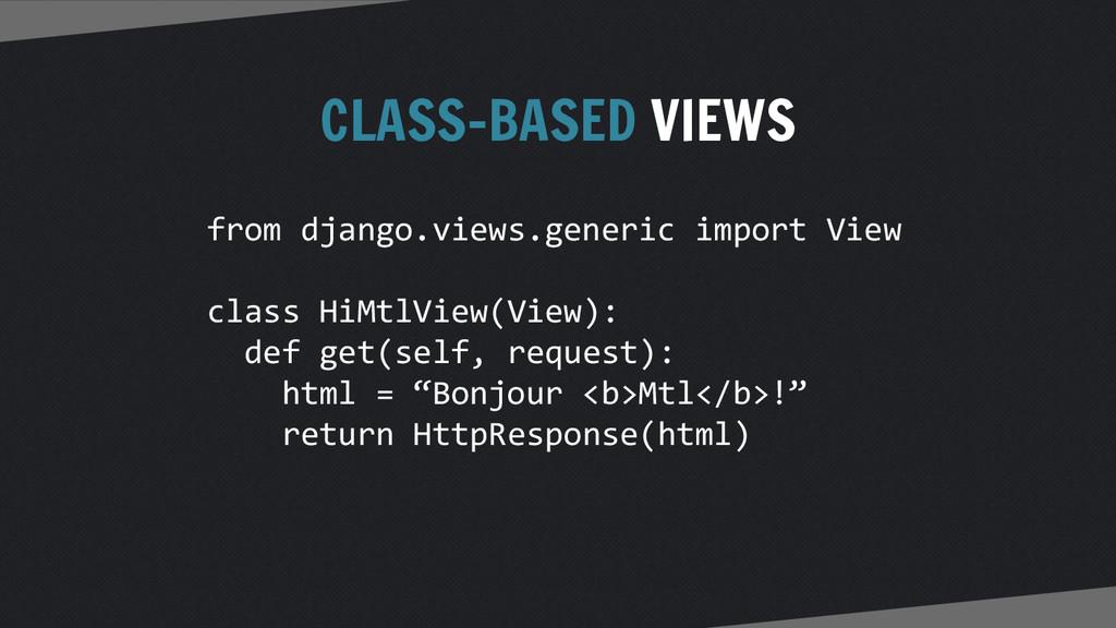 CLASS-BASED VIEWS from django.views.generic imp...