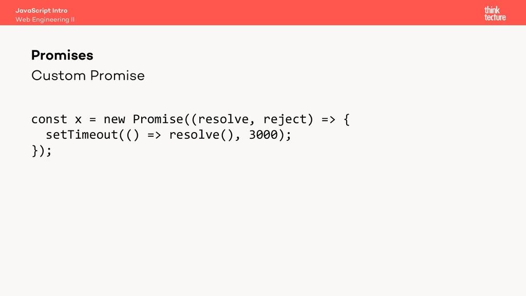 Custom Promise Promises Web Engineering II Java...