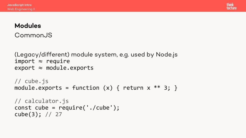 CommonJS Modules Web Engineering II JavaScript ...