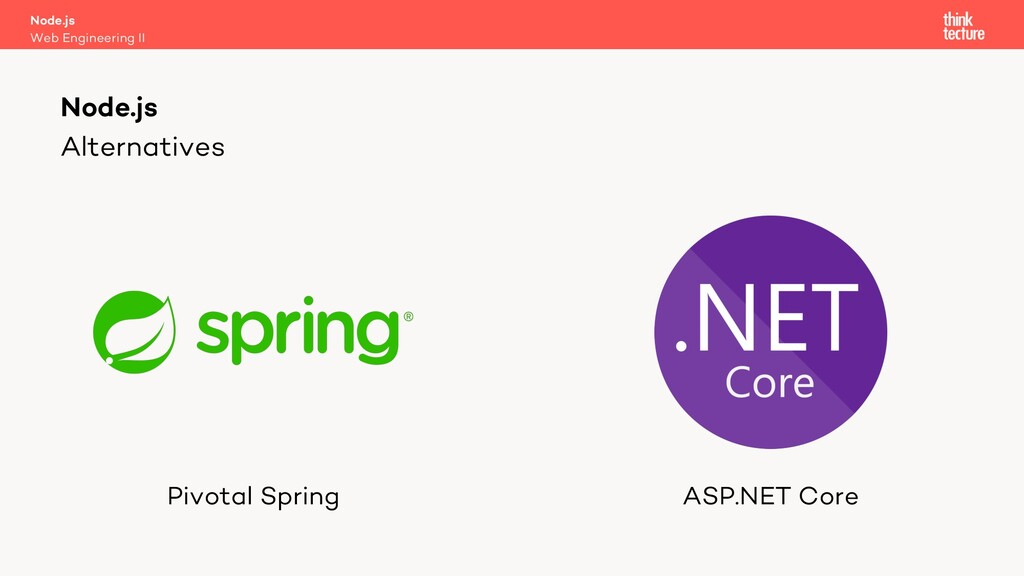 Alternatives Pivotal Spring ASP.NET Core Node.j...