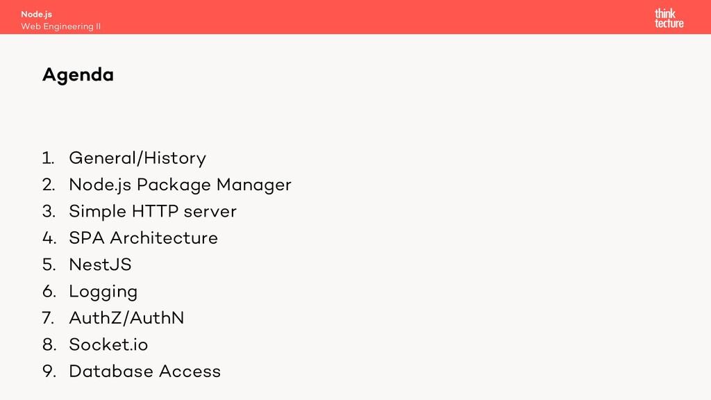 1. General/History 2. Node.js Package Manager 3...