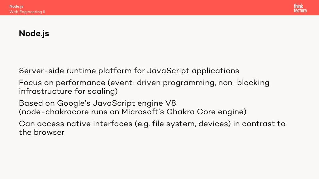 Server-side runtime platform for JavaScript app...
