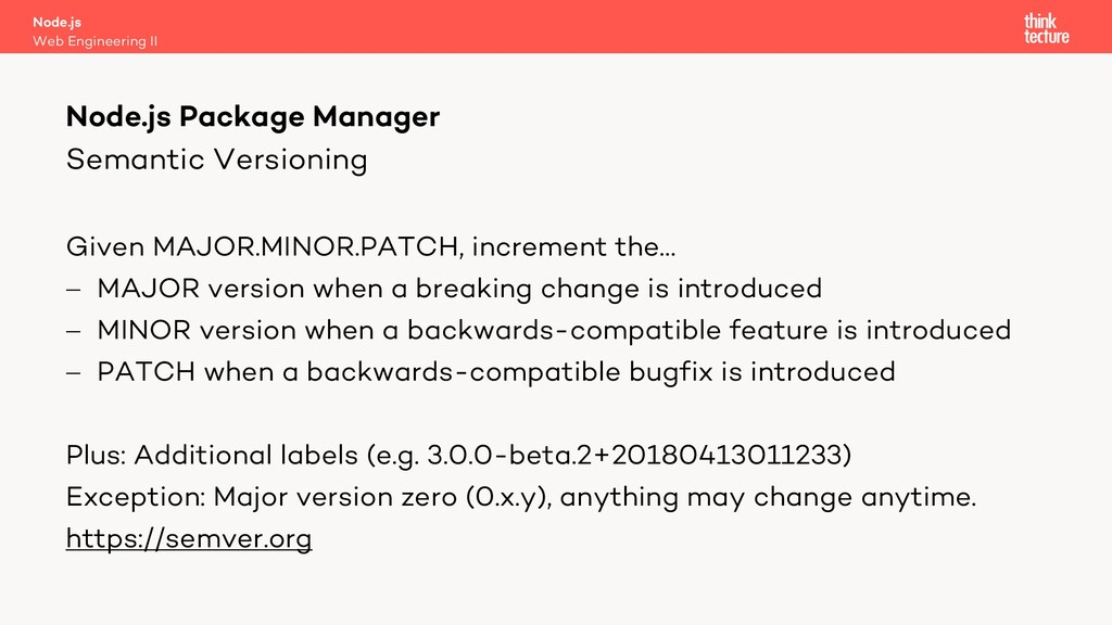 Semantic Versioning Given MAJOR.MINOR.PATCH, in...