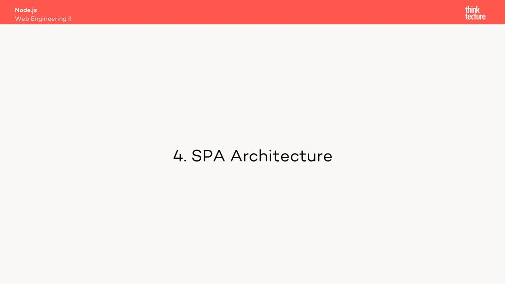 4. SPA Architecture Node.js Web Engineering II