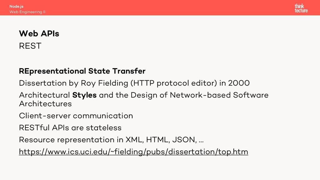 REST REpresentational State Transfer Dissertati...