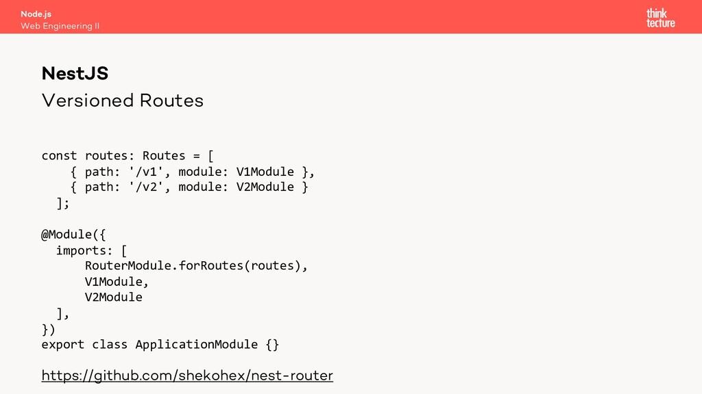 Versioned Routes const routes: Routes = [ { pat...