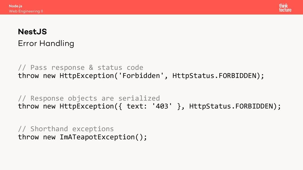 Error Handling // Pass response & status code t...