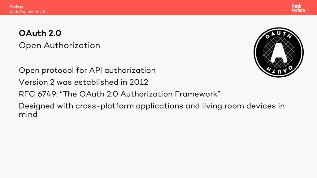 Open Authorization Open protocol for API author...