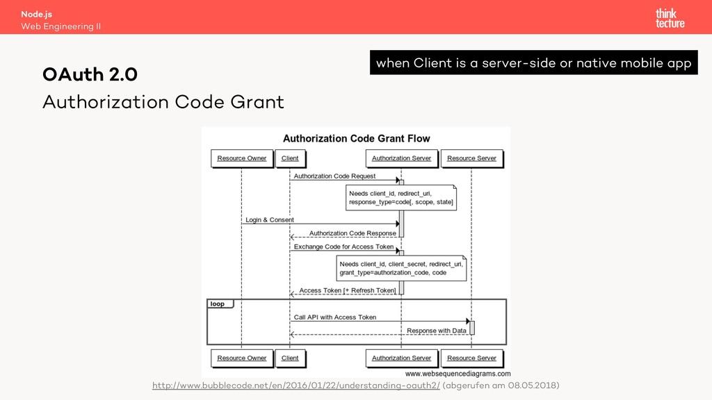 Authorization Code Grant Node.js Web Engineerin...