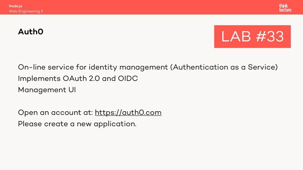 On-line service for identity management (Authen...