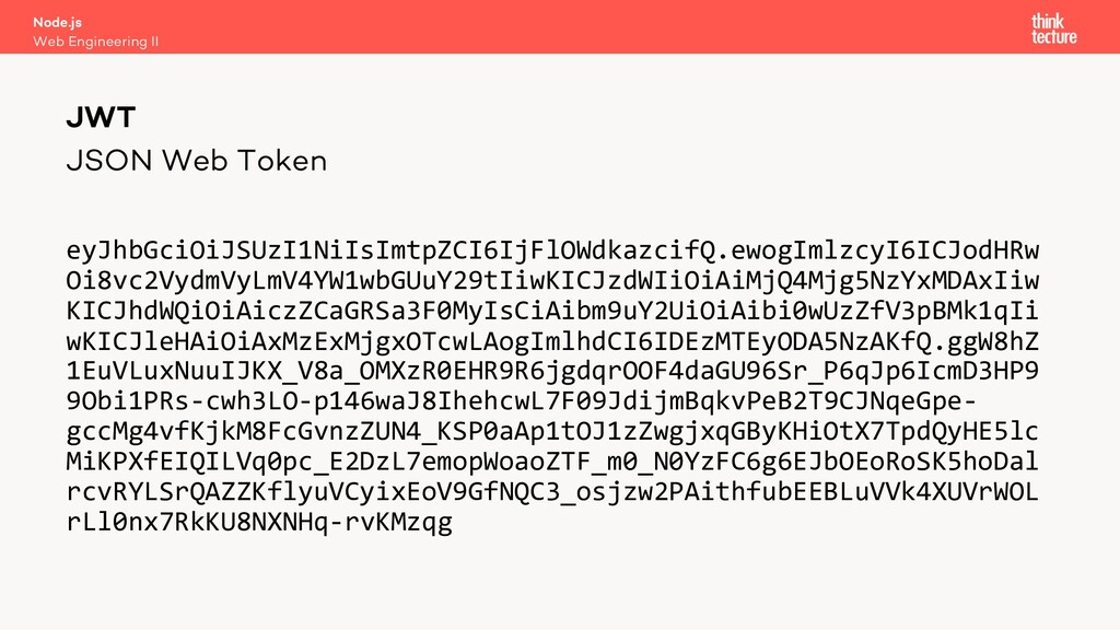 JSON Web Token eyJhbGciOiJSUzI1NiIsImtpZCI6IjFl...