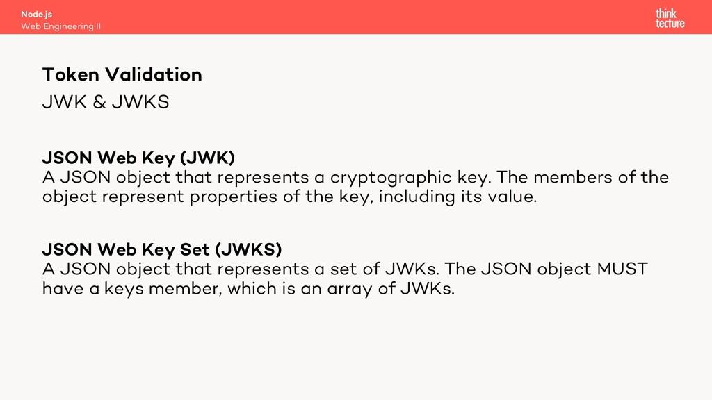 JWK & JWKS JSON Web Key (JWK) A JSON object tha...