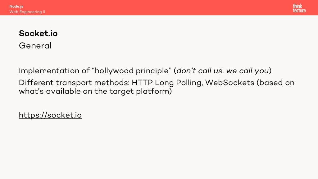 """General Implementation of """"hollywood principle""""..."""