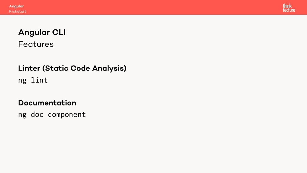 Features Linter (Static Code Analysis) ng lint ...