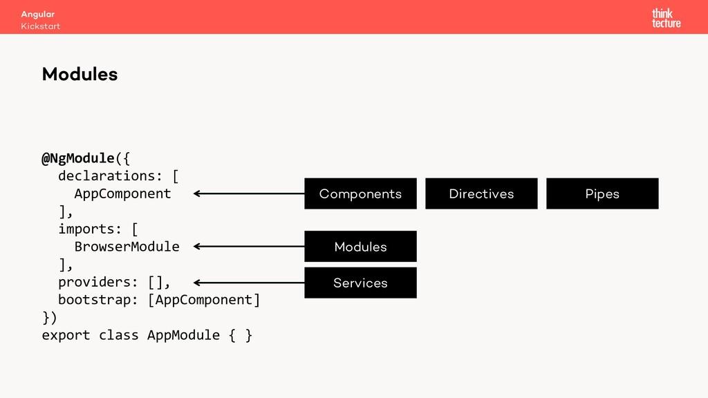 @NgModule({ declarations: [ AppComponent ], imp...