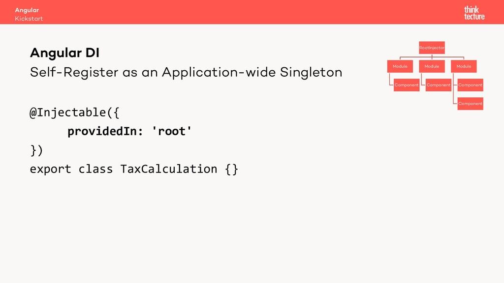 Self-Register as an Application-wide Singleton ...