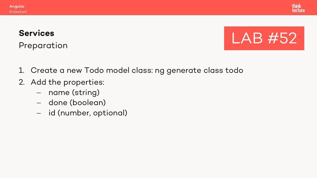 Preparation 1. Create a new Todo model class: n...
