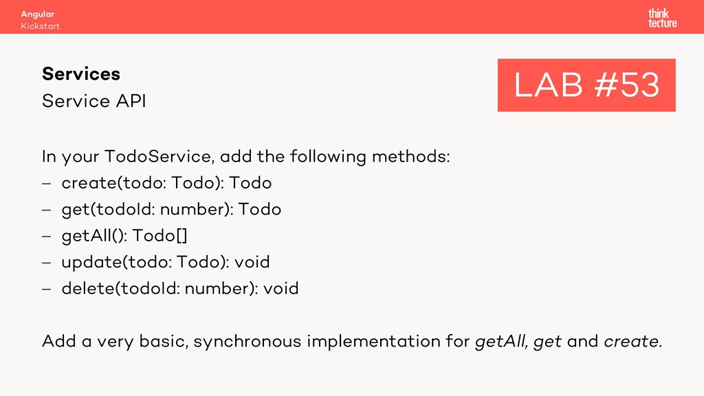 Service API In your TodoService, add the follow...