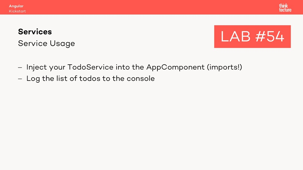 Service Usage - Inject your TodoService into th...