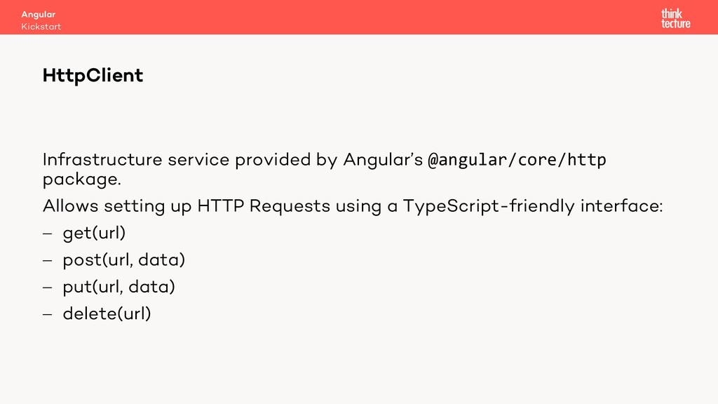 Infrastructure service provided by Angular's @a...