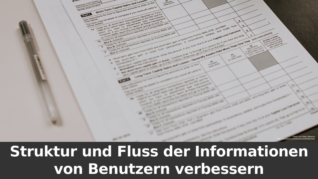 Struktur und Fluss der Informationen von Benutz...