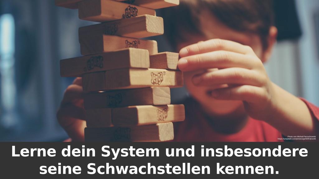 Lerne dein System und insbesondere seine Schwac...
