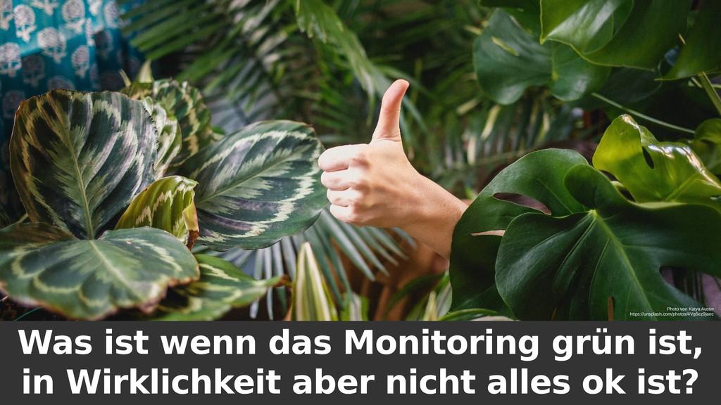 Was ist wenn das Monitoring grün ist, in Wirkli...